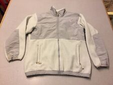 The North Face Girls Youth White Grey Denali Jacket SZ XL fits Women XS/S A3