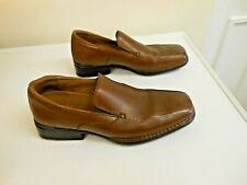 ROCKPORT MENS DARK BROWN LEATHER SLIP-ON SMART CASUAL SHOES SIZE 7.5W
