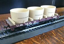 Bachmann HO Civil War Drinking Water Flat Car Model US.M.R.R.1087 Scale Gondola