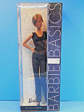 Barbie Basics Doll African American #08 Short Hair Jeans Model Muse New