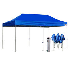 BLUE 10x20 Pop Up Instant party Weeding Tent Folding Trade Show Gazebo Shelter