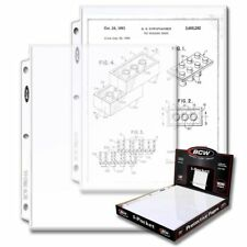 (300) BCW PRO 1-POCKET DOCUMENT PAGES - 8.5 X 11