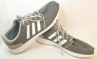 Adidas Women's Cloudfoam QT Racer Shoes Size 10 Grey Sneakers Neutral Running