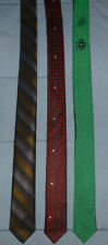 "Men's Necktie Lot of 3 Retro Funky Skinny 1"" 50 - 53  Tie Unbranded  Shamrock"