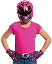 Pink Ranger Mask Gloves Power Rangers Fancy Dress Halloween Costume Accessory