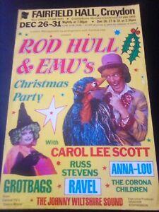 FAIRFIELD HALL CROYDON flyer ROD HULL & EMU'S CHRISTMAS PARTY