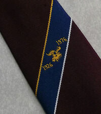 A LONDON MADE TIE CLUB ASSOCIATION BURGUNDY 50 YEARS 1926 1976 1970s MOD RETRO
