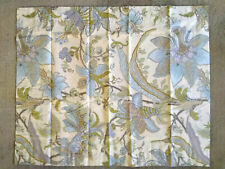 """Pottery Barn New Pillow Case Green Blue Floral Persian Design 30"""" x 24"""""""