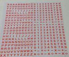 400 numeri lettere Autoadesivo peel off adesivi alfabeto cifra STICK + - X
