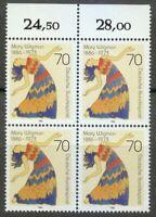 Germany 1986 MNH Mi 1301 Sc 1474 Mary Wigman ,German dancer ** Block of 4 **