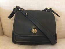 Coach Vintage Legacy Rambler Black Leather Turnlock Flap Shoulder Bag 9061 EUC