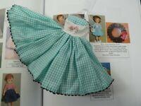 Vintage Little Miss Revlon #9425 Cotton Check Bolero Outfit--Dress ONLY