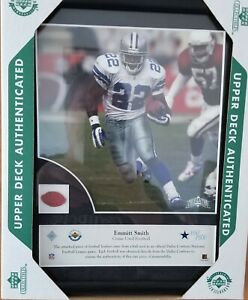 Piece ofUPPER DECK AUTHENTICATED Emmitt Smith Game Used Football Num. 151 0f 500