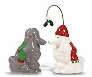 Poodles Mistletoe Pets Ceramic Salt and Pepper Shakers Grassland Roads