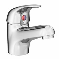 Modern Chrome Single Lever Basin Tap with Push Button Waste - Chrome - DTY305