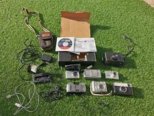 Job Lot Of 6 Vintage Film Cameras Canon Casio Kodak Samsung