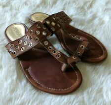 Guess Brown Thong Sandals Flats Toe Loop Womens Size 7M