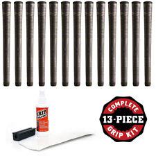 """Winn Dri-Tac Lite Midsize (+1/16"""") Dark Gray DriTac -13 Pieces Golf Grip Kit NEW"""