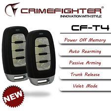 NEW CRIMEFIGHTER CF-T4 Universal Keyless Entry 1 Way Basic Car Alarm System
