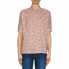 MAX MARA Women's Cannet Shaded Pink Floral Button Down Blouse Sz 4 $245 NWT