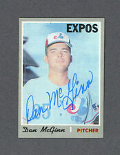 Dan McGinn signed Expos 1970 Topps card