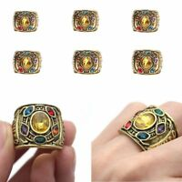1Pc 2019 THANOS Infinity Gauntlet POWER RING Avengers The Infinity War Stones UK