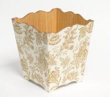 Gold Foliage waste paper bin wooden handmade in UK