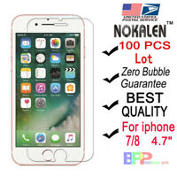 100x Wholesale Lot Tempered Glass Screen Protector for Apple iPhone 6 /7/ 8 4.7""