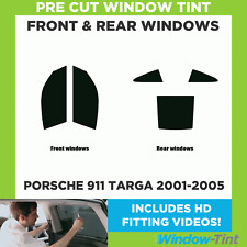 Pre Cut Window Tint - Porsche 911 Targa 2001-2005 - Full Kit