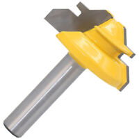 8mm Shank 45Degree 1/2inch Stock Router Bit Lock Miter Woodworking Cutter Tool