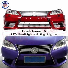 Front bump + LED Headlights & Fog lights For Lexus ES350 2007-2012 LED DRL NEW
