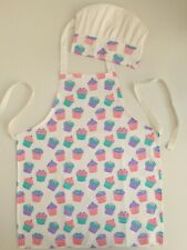 Kids Apron And Chef Hat Cupcake Design 100% Cotton