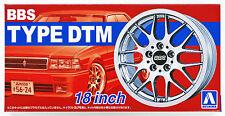 Aoshima 52426 Tuned Parts 03 1/24 BBS DTM 18inch Tire & Wheel Set