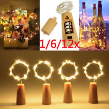 12x LED Cork with 20 LED Lights on a String Bottle Stopper Lamp Wedding Event