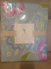 Pottery Barn Kids Samantha Duvet Cover Blue full queen Floral Paisley Butterfly