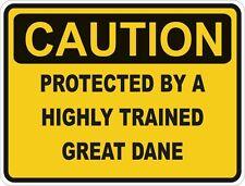 Dog Breed Great Dane Caution Sticker Pet for Bumper Car Door