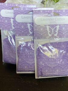 Scentsy Scent Pak  (Lot of 3) Scent Paks NEW Lavender Cotton