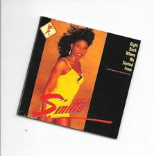 """SINITTA - Right back were we started from 3""""Inch CD SINGLE 2TR PWL 1989 TELDEC"""