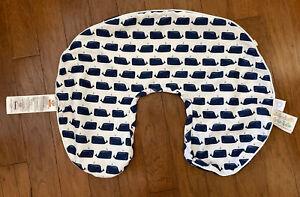 Anchors & Whales Theme Boppy Pillow Slip Cover. EUC.