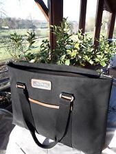 grand sac cabas Lancel toile et cuir
