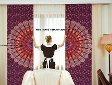 Indian Mandala Cotton Curtain Hippie Tapestry Door Curtains Window Curtains Boho