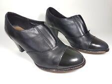 Clarks Zapatos Tacón Medio softwear Negro Cuero UK 5.5