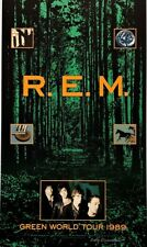 R.E.M. POSTER Green World Tour 1989 Signed by Artist Gary Grimshaw Original Rare