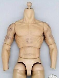 "1:6 ZC Toys Male Muscle Body USED READ 12"" GI Joe Dragon Hot Toys Coo Model"