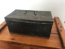 More details for rare vintage 1933 metal military british army cash box wwii