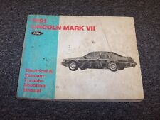 1991 Lincoln Mark VII 7 Coupe Electrical Wiring & Vacuum Diagram Manual 5.0L V8