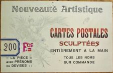 Salesmen's Sample/Advertising Postcard for Hand-Made Postcards 1910 French