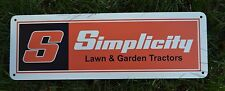 SIMPLICITY Lawn Garden Tractor Mower SIGN Snapper Advertising Logo PARTS REPAIR