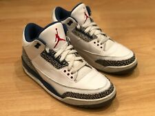 Mens Jordan 3 White True Blue retro 2011 UK size 8.5 3 4 5 6 7 11 13 NIKE