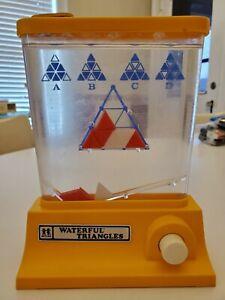 Vintage Tomy WONDERFUL TRIANGLES Water Game WORKS!